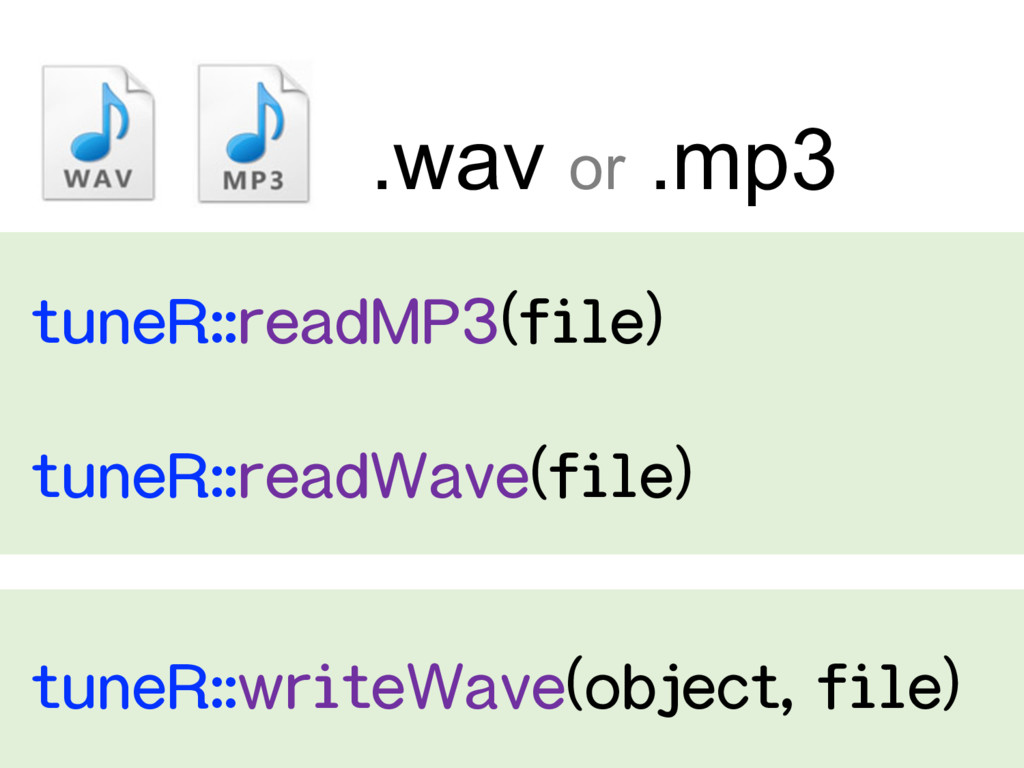 .wav or .mp3   ...