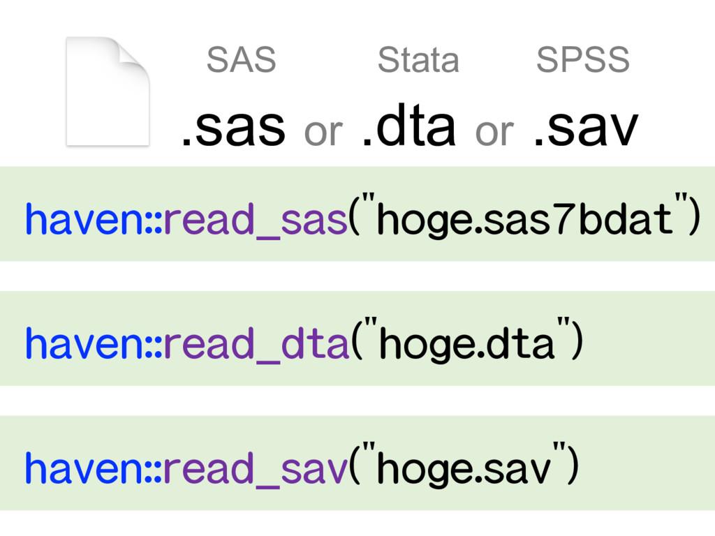 .sas or .dta or .sav SAS Stata SPSS  ...