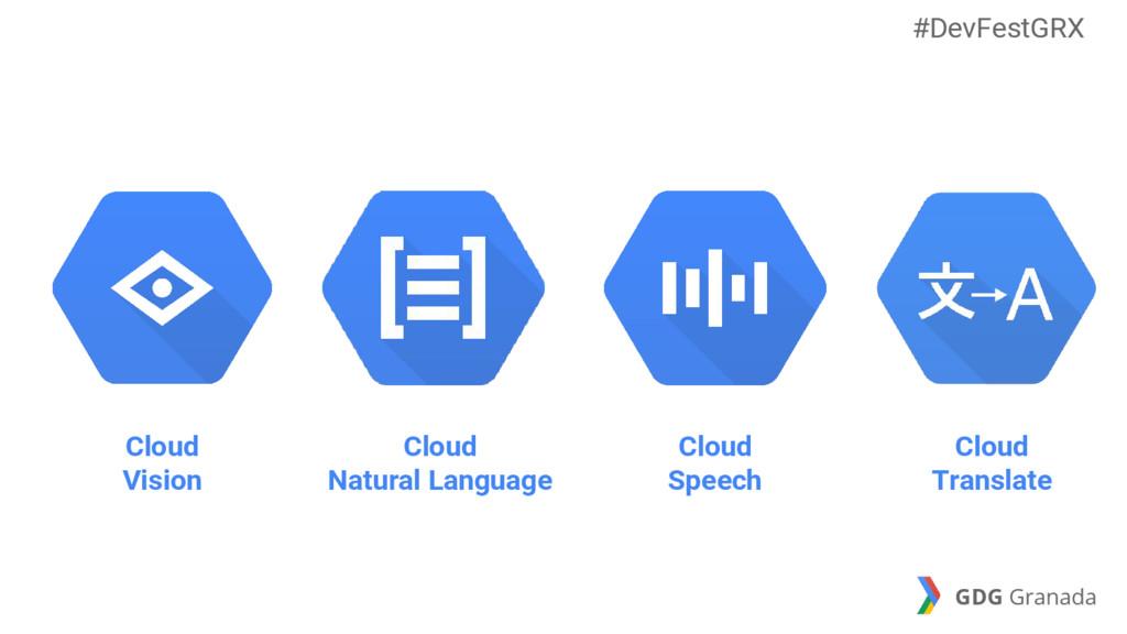 Cloud Natural Language Cloud Speech Cloud Trans...