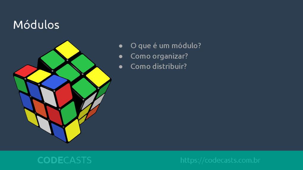 Módulos ● O que é um módulo? ● Como organizar? ...
