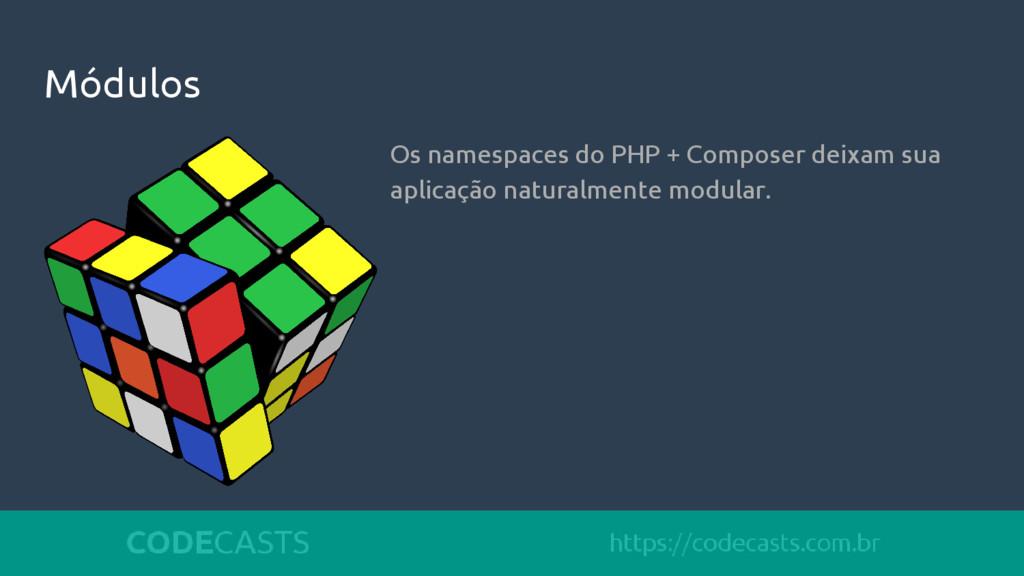 Módulos Os namespaces do PHP + Composer deixam ...