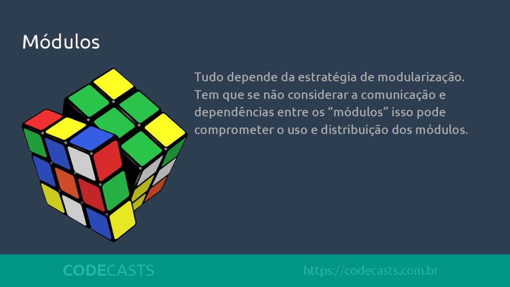 Módulos Tudo depende da estratégia de modulariz...