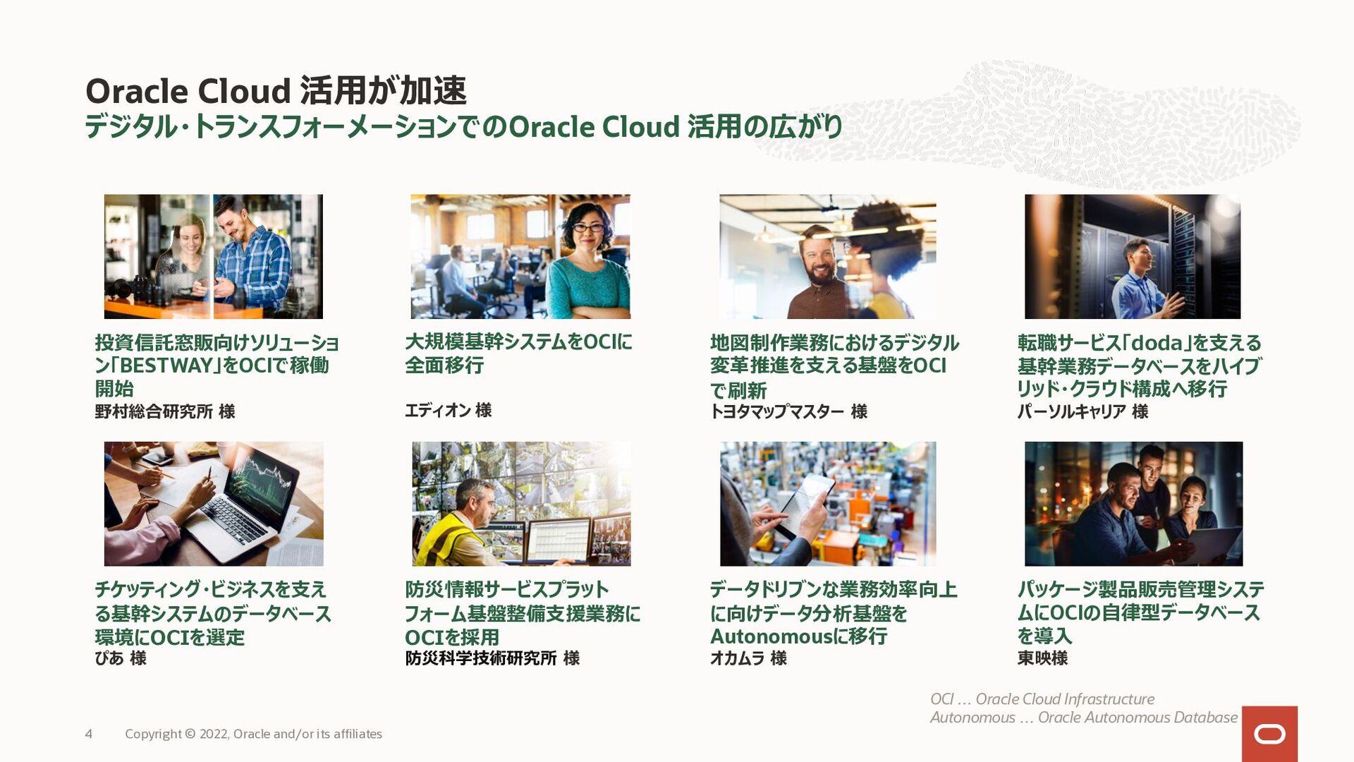 デジタル・トランスフォーメーションでのOracle Cloud 活⽤の広がり Oracle C...
