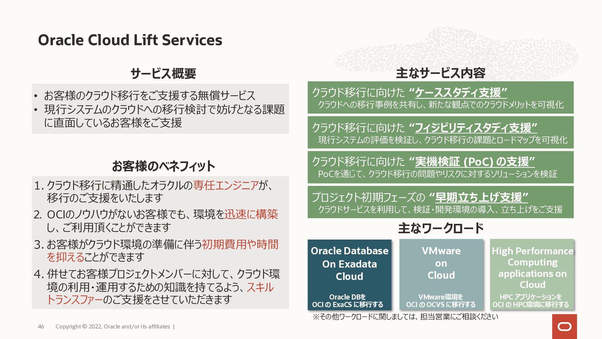 2021年10⽉現在︓31リージョン提供中、さらに13リージョン計画 Oracle Cloud...