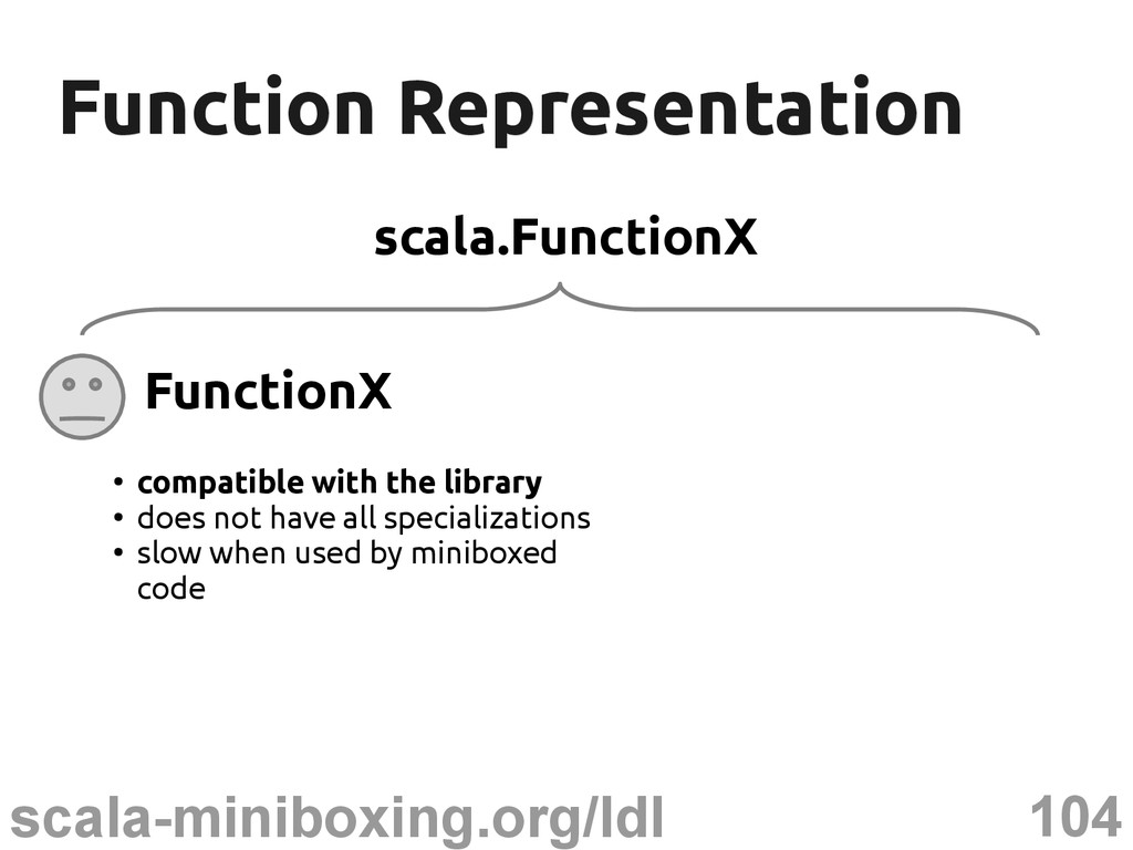 104 scala-miniboxing.org/ldl Function Represent...