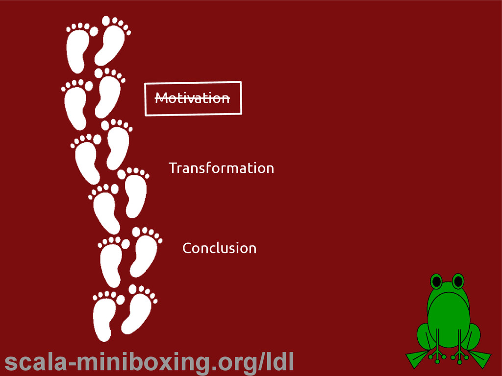scala-miniboxing.org/ldl Motivation Transformat...
