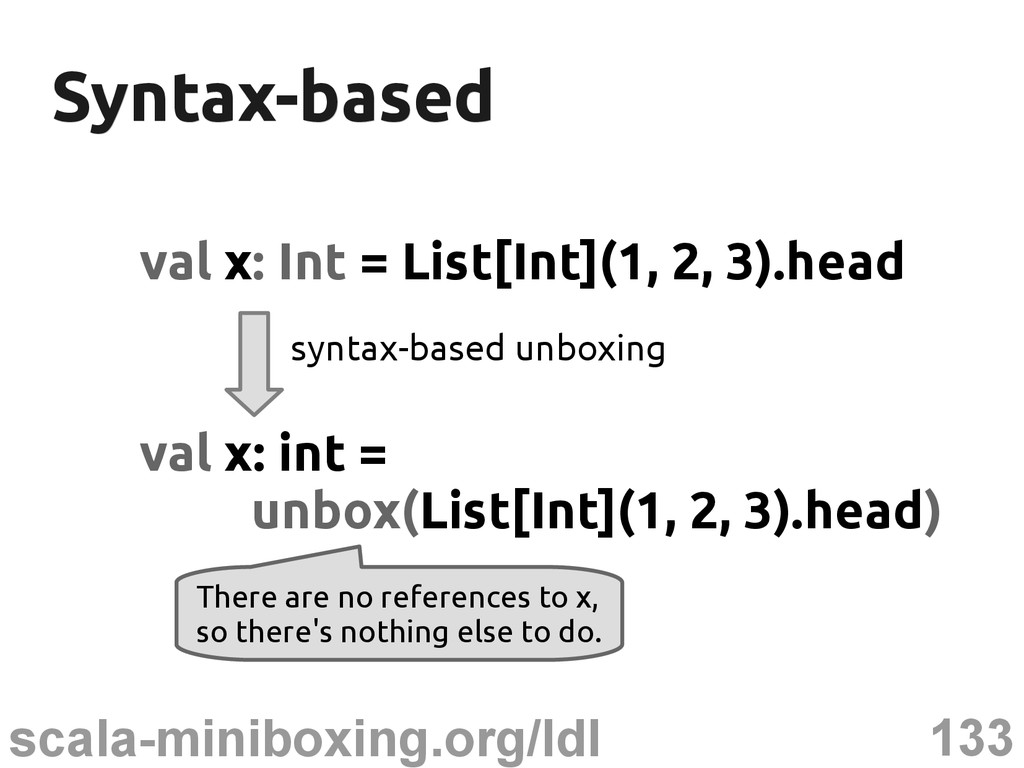 133 scala-miniboxing.org/ldl Syntax-based Synta...