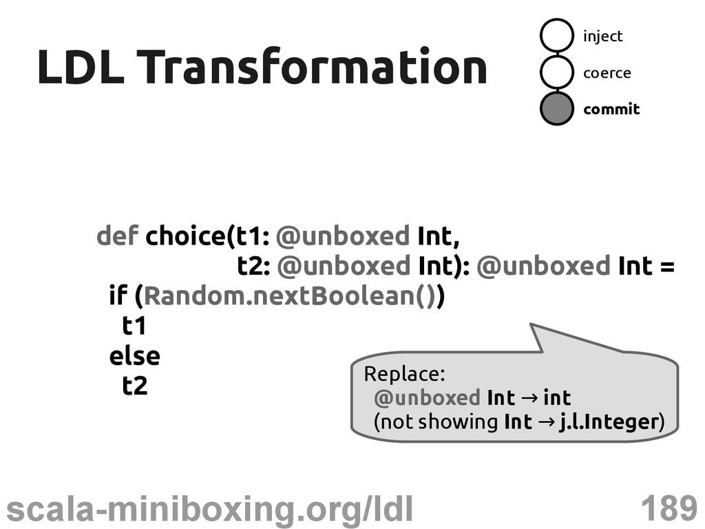 189 scala-miniboxing.org/ldl LDL Transformation...