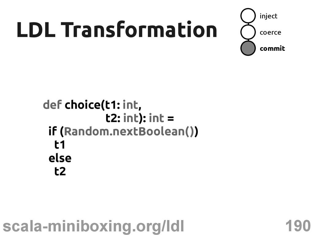190 scala-miniboxing.org/ldl LDL Transformation...