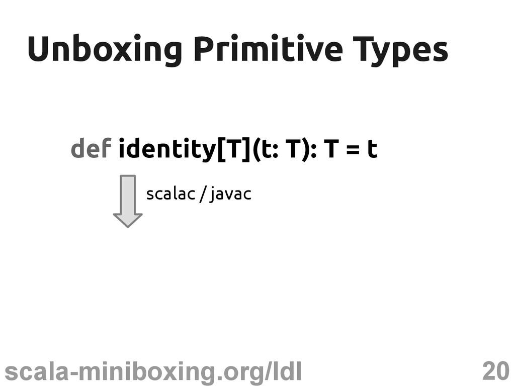 20 scala-miniboxing.org/ldl Unboxing Primitive ...