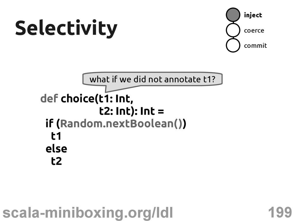 199 scala-miniboxing.org/ldl Selectivity Select...