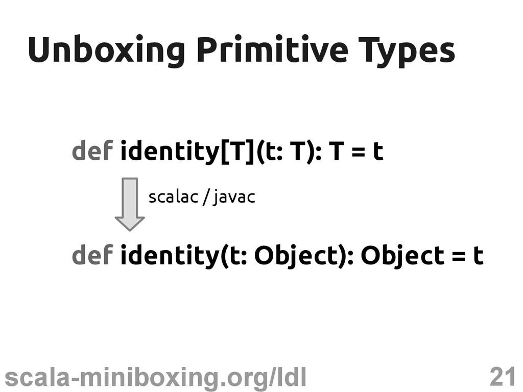 21 scala-miniboxing.org/ldl Unboxing Primitive ...