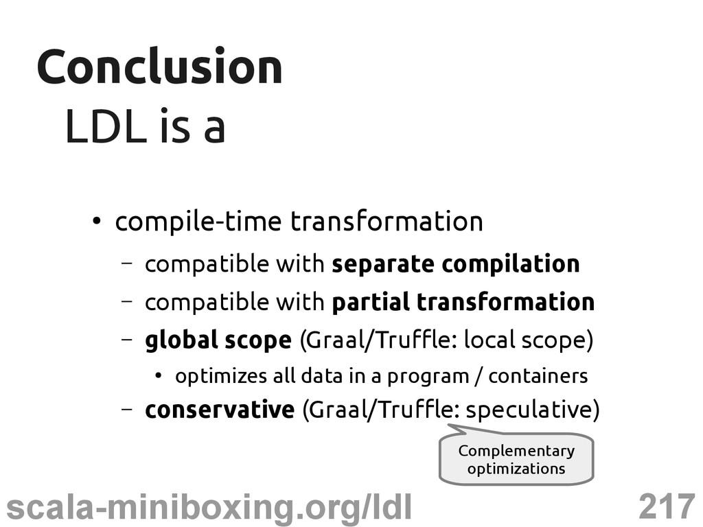 217 scala-miniboxing.org/ldl Conclusion Conclus...