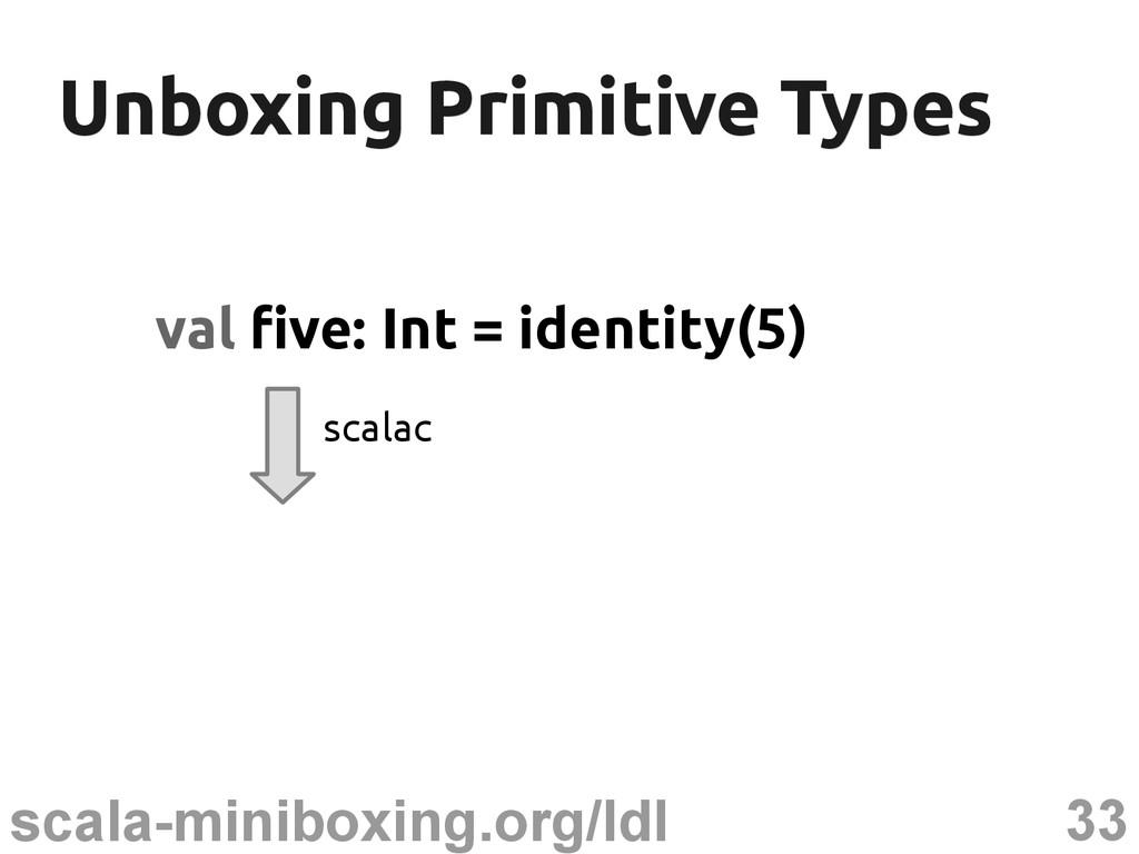 33 scala-miniboxing.org/ldl Unboxing Primitive ...