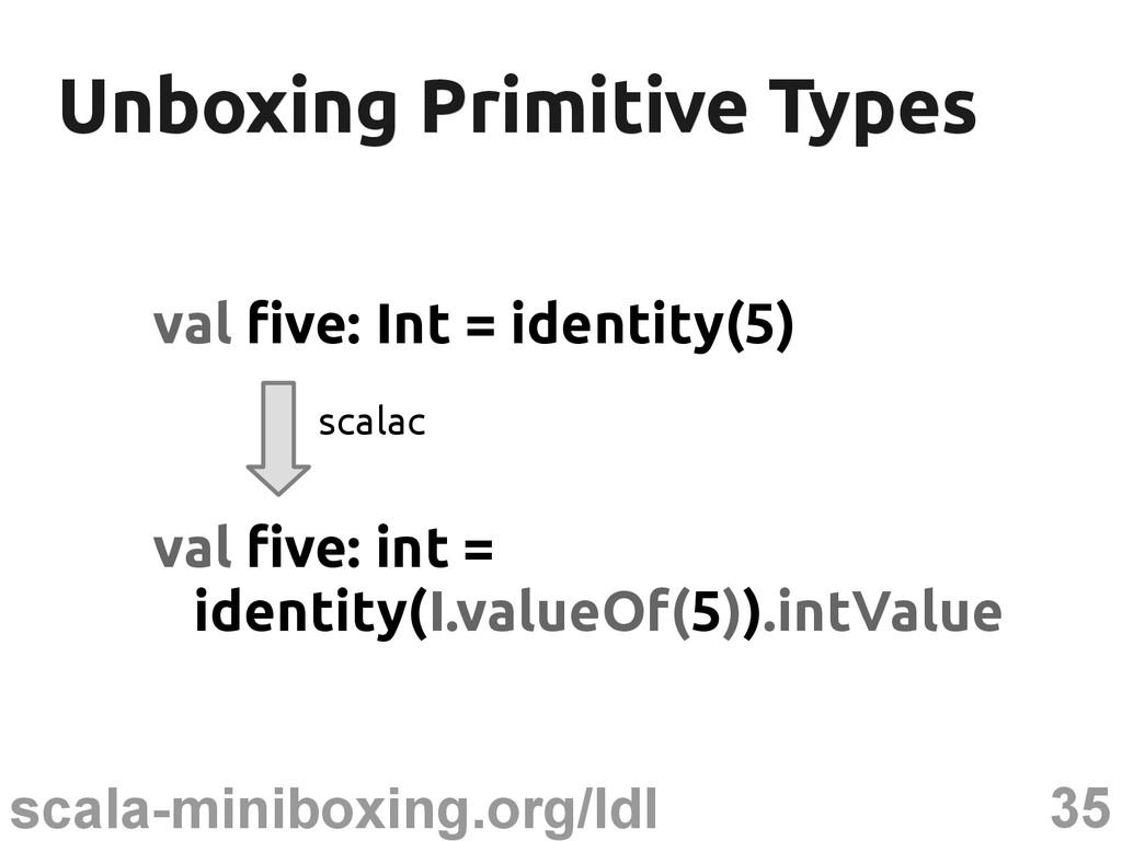 35 scala-miniboxing.org/ldl Unboxing Primitive ...