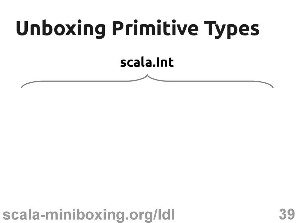 39 scala-miniboxing.org/ldl Unboxing Primitive ...
