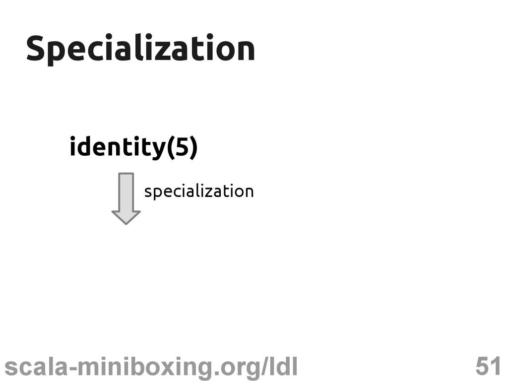51 scala-miniboxing.org/ldl Specialization Spec...