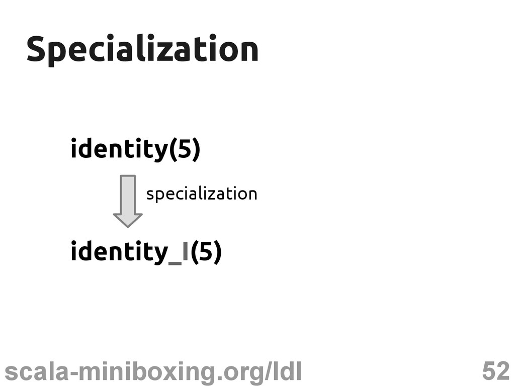 52 scala-miniboxing.org/ldl Specialization Spec...