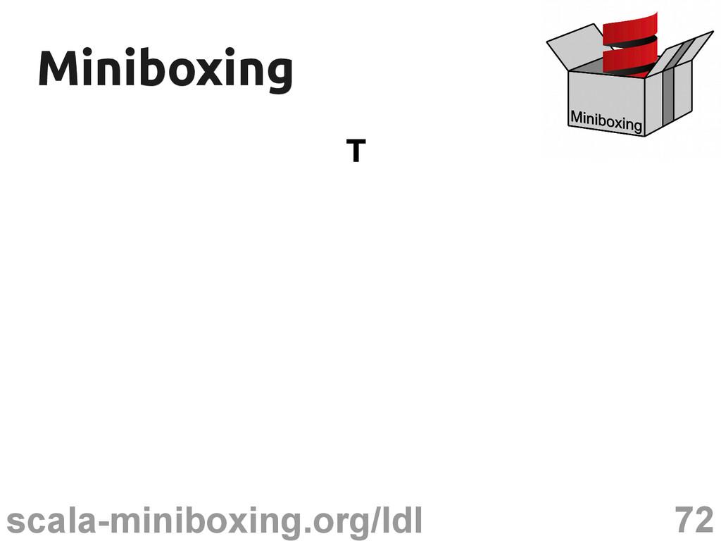 72 scala-miniboxing.org/ldl Miniboxing Miniboxi...