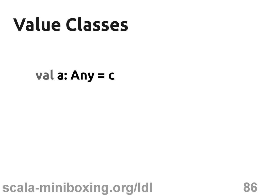 86 scala-miniboxing.org/ldl Value Classes Value...