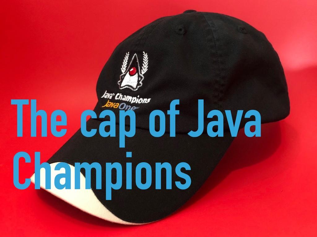The cap of Java Champions