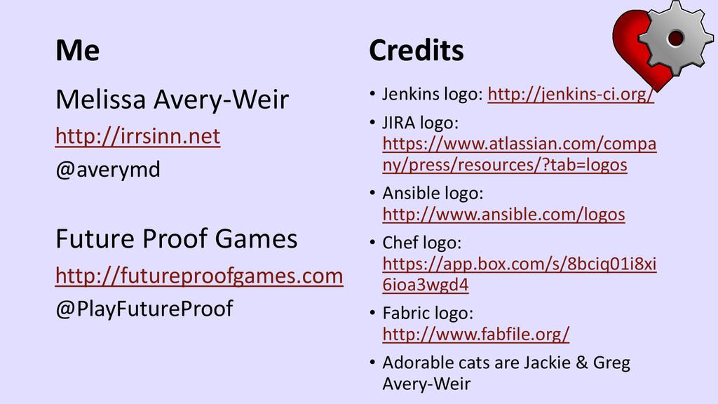 Me Melissa Avery-Weir http://irrsinn.net @avery...