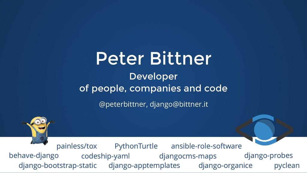 Peter Bittner Peter Bittner Developer Developer...