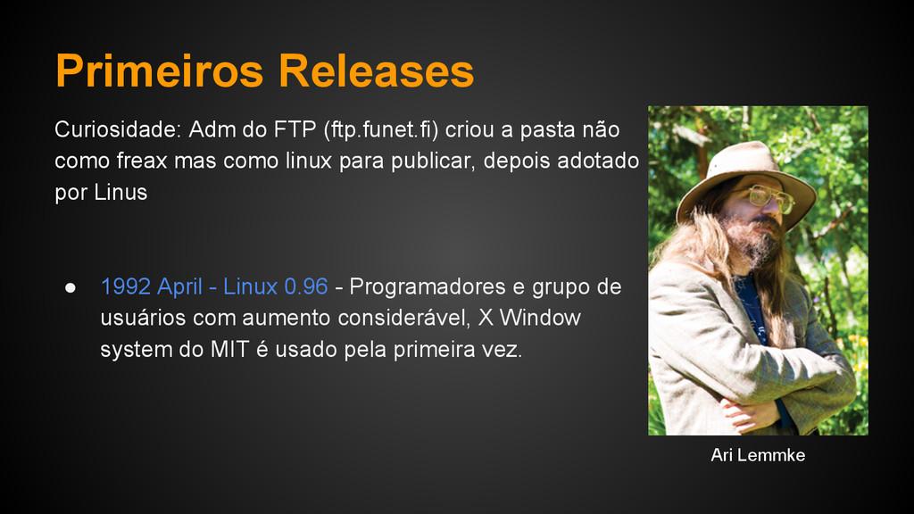 Primeiros Releases Curiosidade: Adm do FTP (ftp...