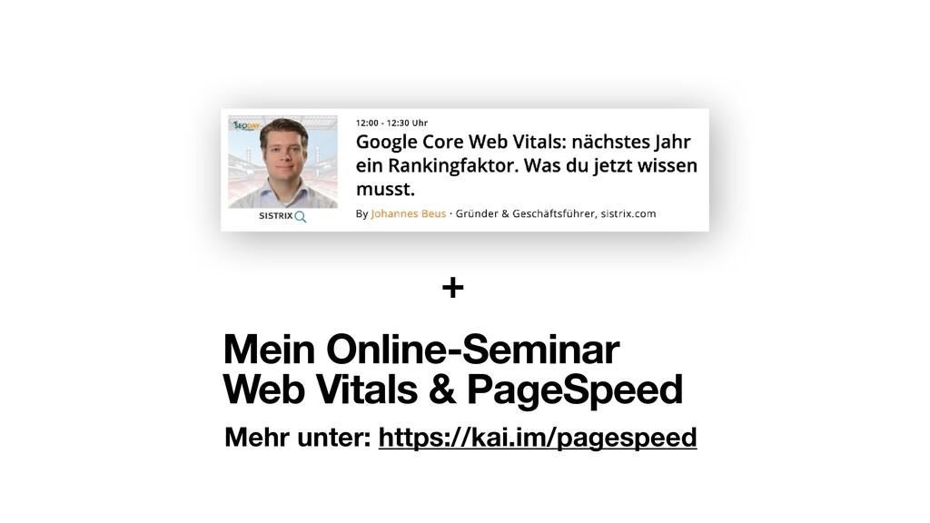 Mehr unter: https://kai.im/pagespeed Mein Onlin...