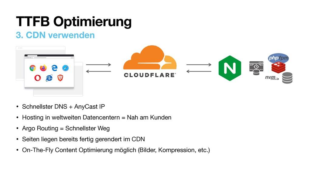 3. CDN verwenden • Schnellster DNS + AnyCast IP...
