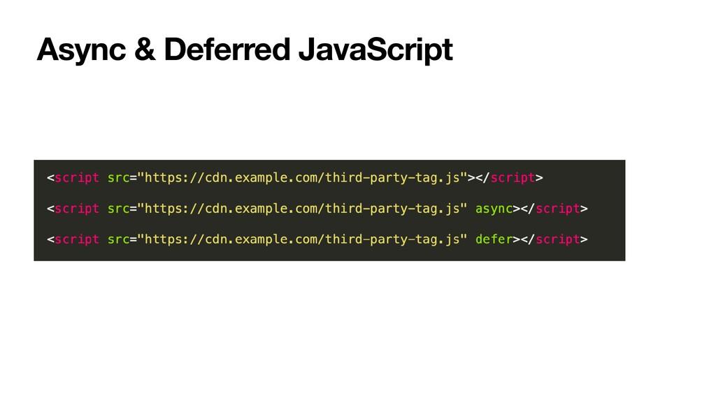 Async & Deferred JavaScript
