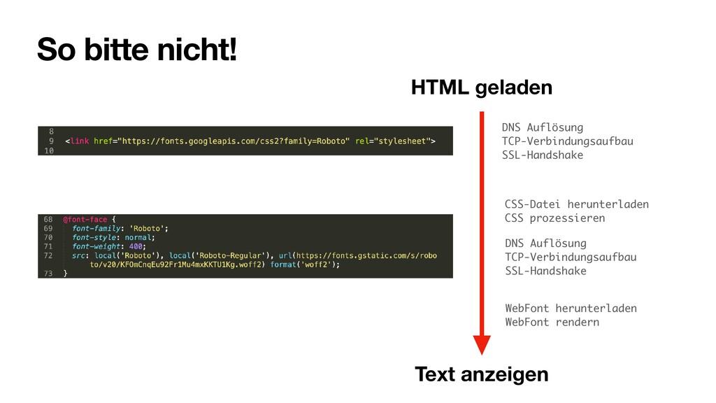So bitte nicht! CSS-Datei herunterladen CSS pro...