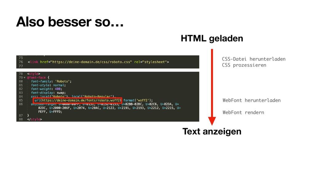 Also besser so… CSS-Datei herunterladen CSS pro...