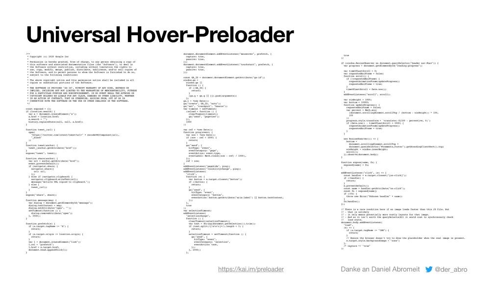 Universal Hover-Preloader /** * Copyright (c) 2...