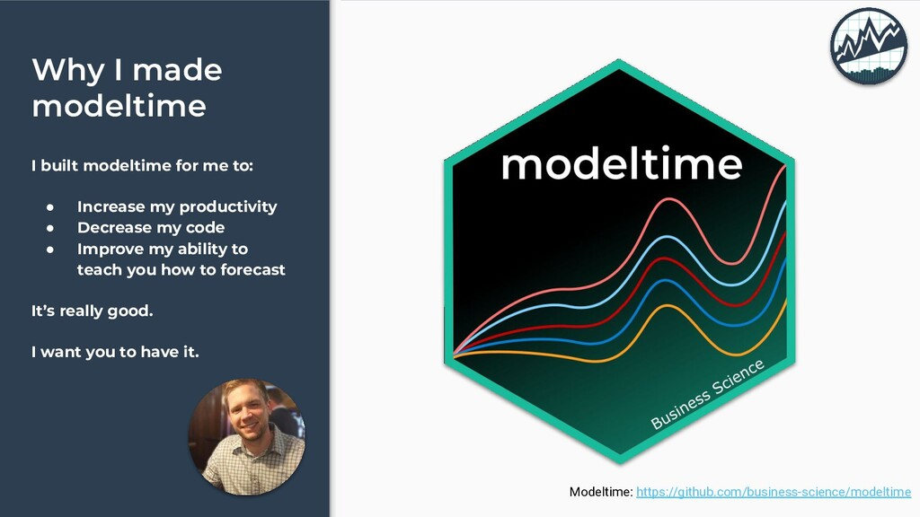 Why I made modeltime I built modeltime for me t...