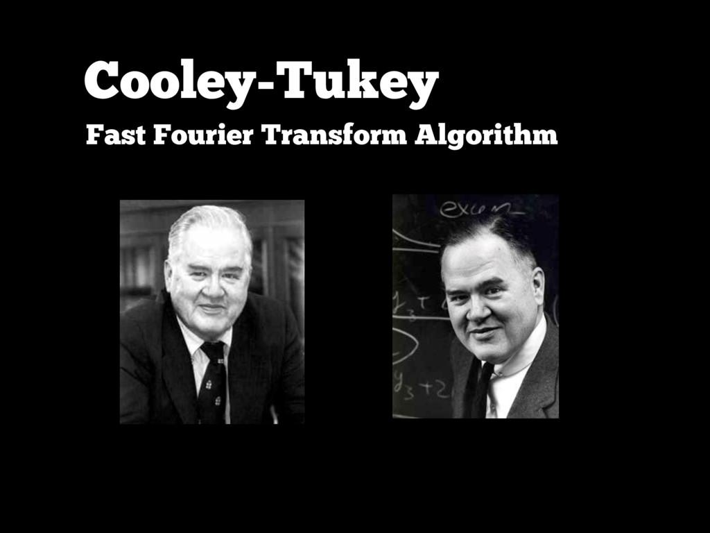 Cooley-Tukey Fast Fourier Transform Algorithm