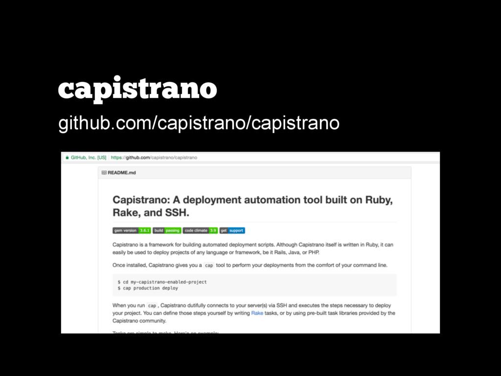 capistrano github.com/capistrano/capistrano