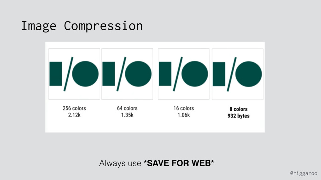@riggaroo Image Compression Always use *SAVE FO...