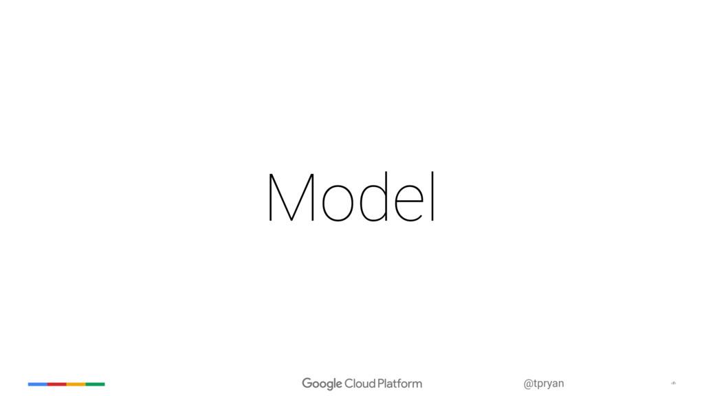 ‹#› @tpryan Model