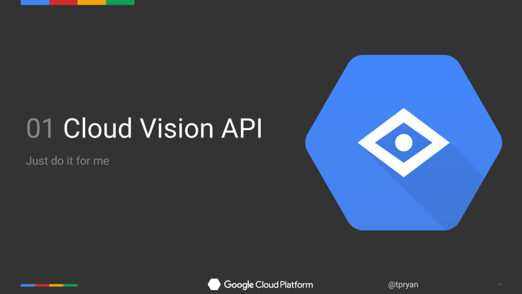 ‹#› @tpryan 01 Cloud Vision API Just do it for ...