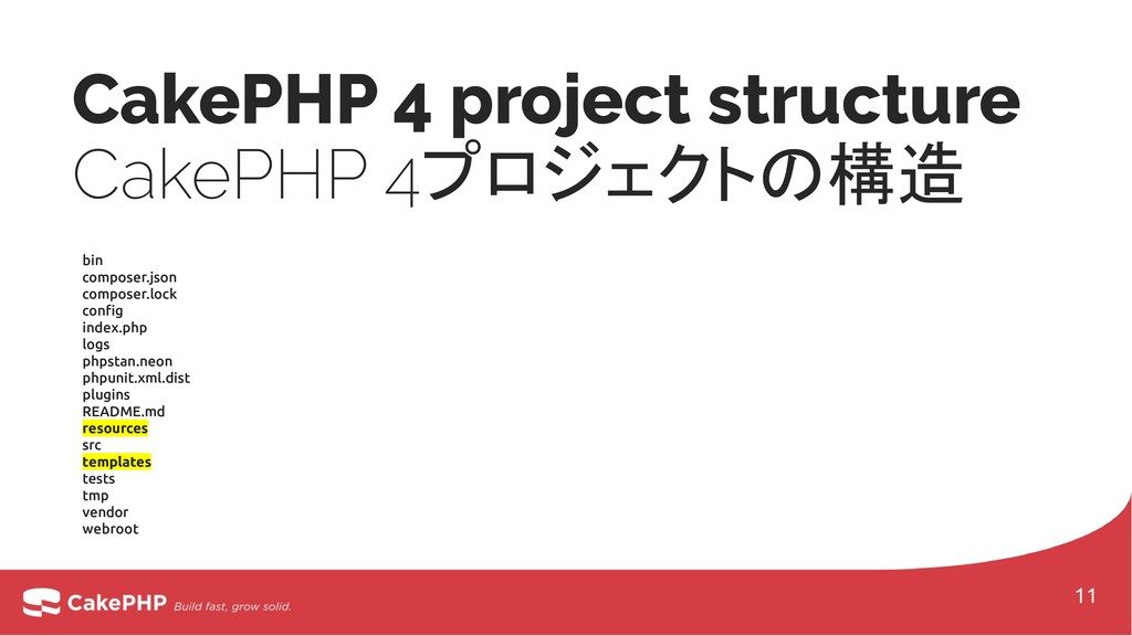 CakePHP 4 project structure CakePHP 4プロジェクトの構造 ...