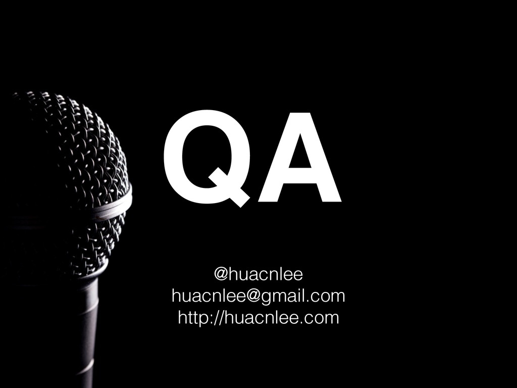 QA @huacnlee huacnlee@gmail.com http://huacnlee...