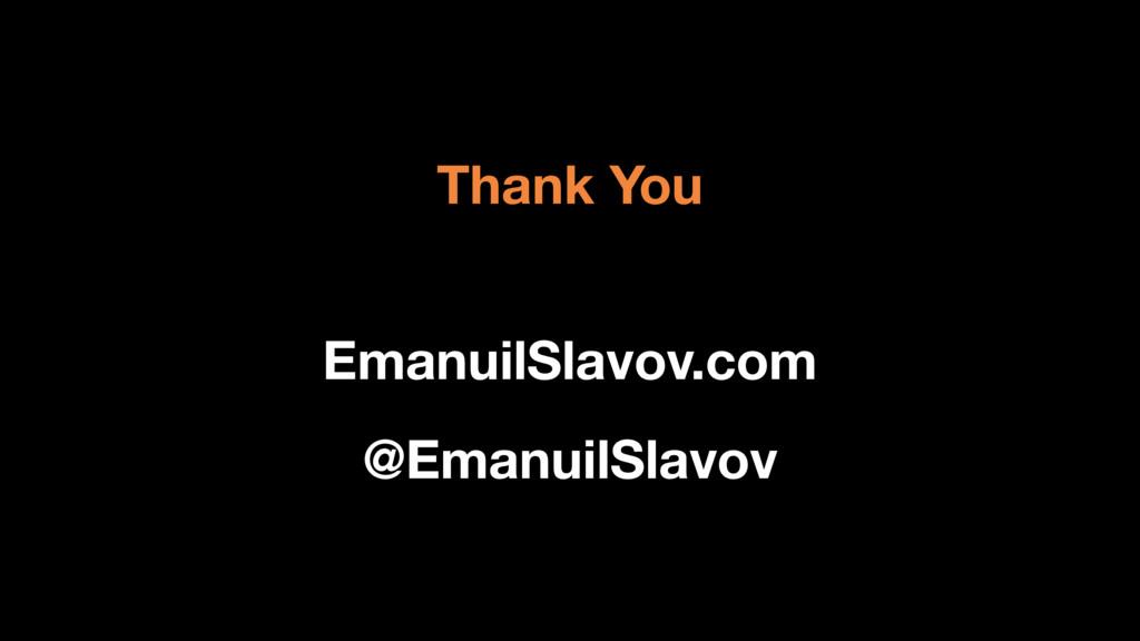 Thank You EmanuilSlavov.com @EmanuilSlavov