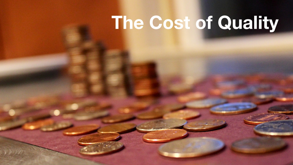 The Cost of Quality