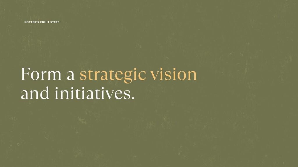 Form a strategic vision  and initiatives. KOTT...