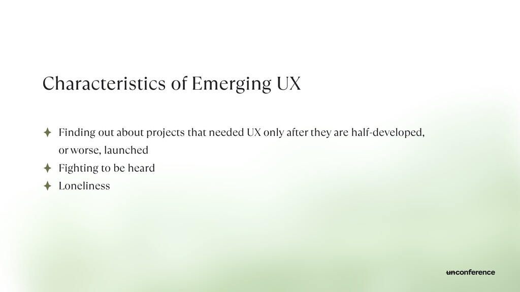 Characteristics of Emerging UX Finding out abou...