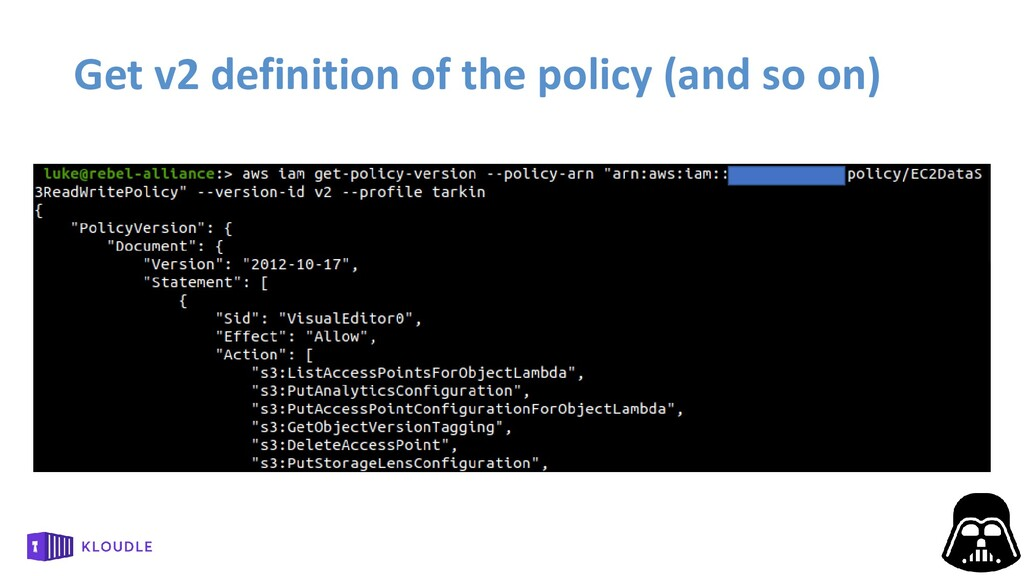 Get v2 definition of the policy (and so on)