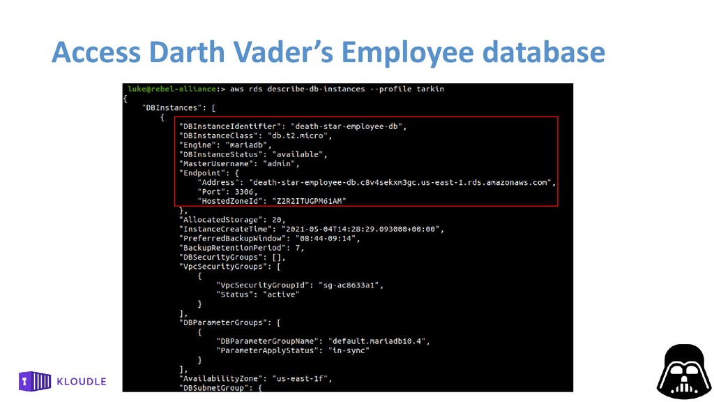 Access Darth Vader's Employee database