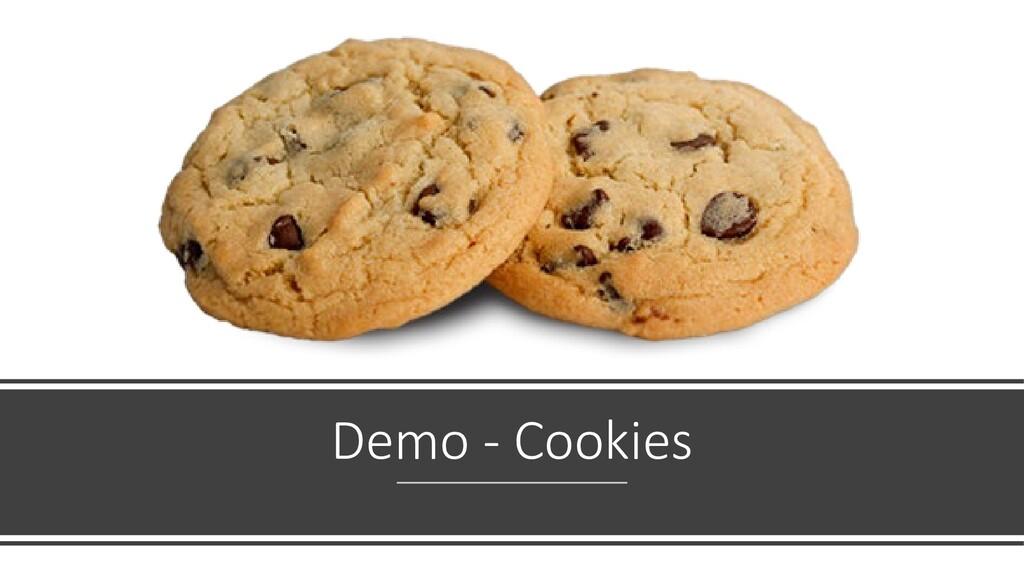 Demo - Cookies