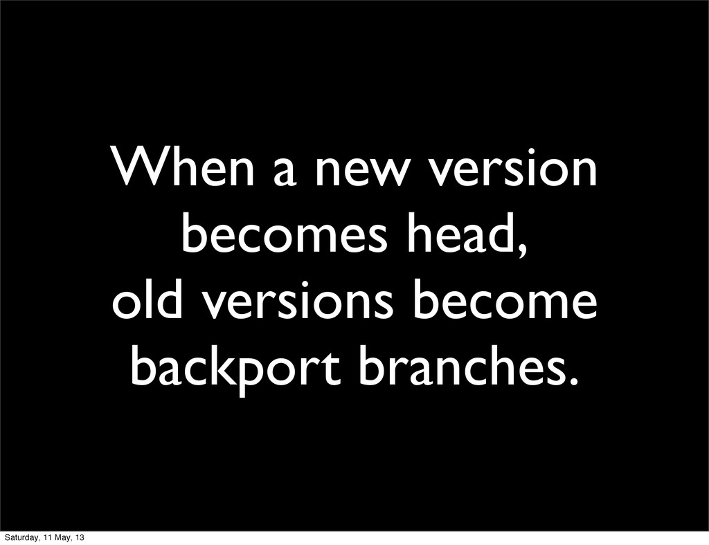 When a new version becomes head, old versions b...